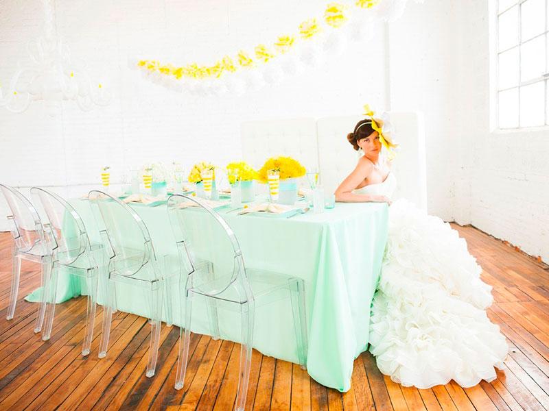 Мятный цвет свадьба фото