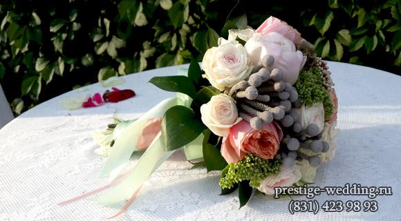 Букет для свадьбы в мятном цвете
