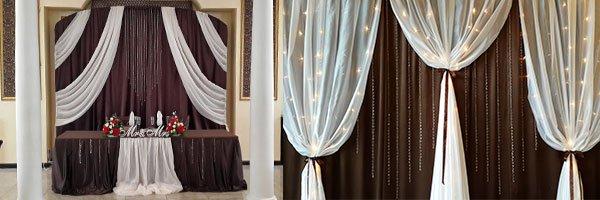 Оформление зала шоколадным цветом