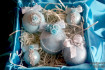 """Набор новогодних шаров """"Голубая мечта"""""""