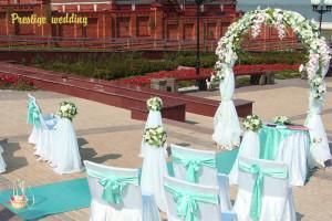 Свадьба в мятном и жёлтом цветах