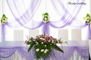 Оформление свадьбы фиолетовым цветом