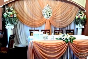 Оформление свадьбы в персиковом цвете