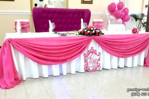 Оформление свадьбы в малиновом цвете