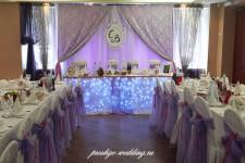 Свадебный зал оформленный тканями