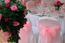 Свадьба в малиновом и розовом цветах