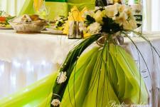 Свадьба в салатовом цвете