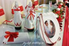 """Кафе """"Gold"""", свадьба в красном цвете"""