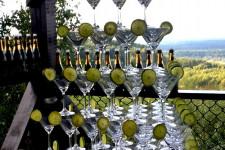 Горка из шампанского с лаймом
