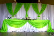 Президиум молодожёнов в зелёном цвете