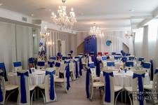 Свадебный зал в синем цвете
