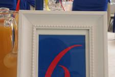 Номерки на стол в синем цвете
