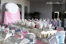 Оформление свадьбы в розовом и голубом цвете