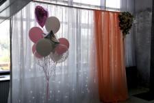 Фотозона в персиковом цвете