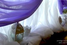 """Оформление фиолетовым цветом, """"Маринс Парк"""""""