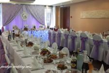 """Кафе """"Молодежное"""", свадьба в фиолетовом цвете"""