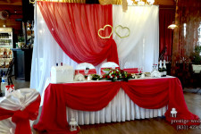 Оформление свадьбы, красный цвет
