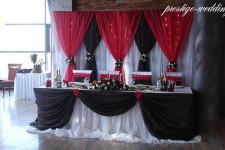 Оформление свадьбы в шоколадном и алом цветах