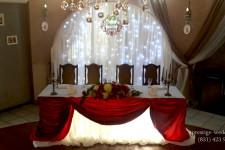 Алый цвет на свадьбе