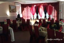Оформление свадьбы в шоколадном и красном цветах