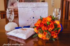 Букет невесты из оранжевых роз