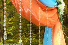 Выездная регистрация в оранжевом и бирюзовом цветах