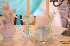 """Свечи """"Семейный очаг"""" для свадьбы в мятном цвете"""