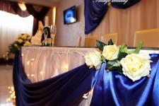 Оформление стола молодоженов синим цветом