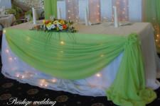 Свадебное оформление в нежно - зеленом цвете
