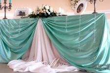 Оформление стола для свадьбы в мятном цвете