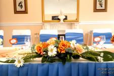 Оформление стола для свадьбы