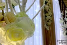 Оформление свадьбы искуственными цветами